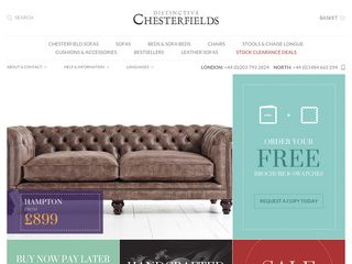 Antique Style Leather Chesterfield Sofa