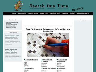 Search One Time Web Directory