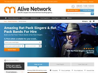 Rat Pack Singers | Alive Network
