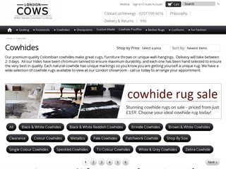 London Cows Cowhide Rugs