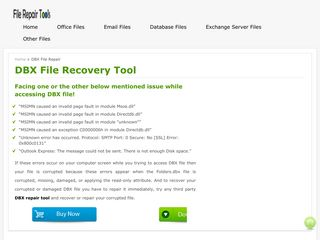 DBX file recovery tool - Repair Corrupt DBX File