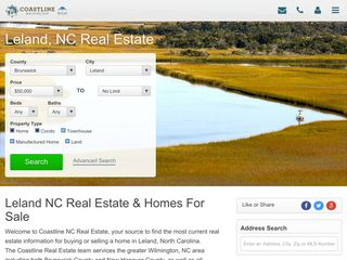 Homes For Sale in Leland, NC - Coastline
