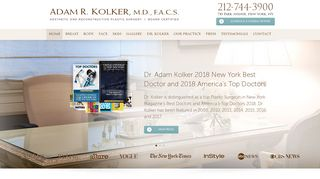 New York Plastic Surgeon, Dr. Kolker