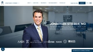 Spine Surgeon New York - Dr. Jonathan Stieber